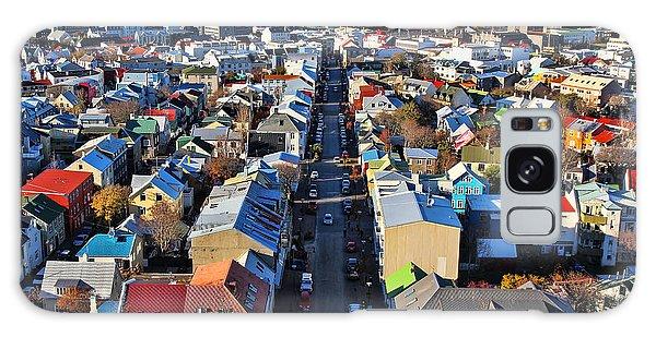 Reykjavik Cityscape Panorama Galaxy Case