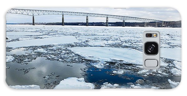Galaxy Case featuring the photograph Rhinecliff Bridge Over The Icy Hudson River by Kristen Fox