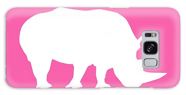 Rhino In Pink And White Galaxy Case