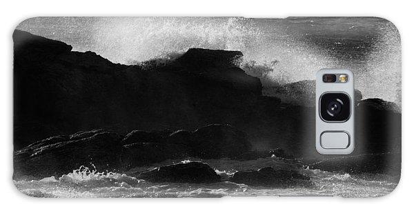 Rhode Island Rocks With Crashing Wave Galaxy Case