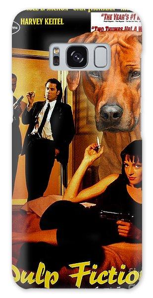 Rhodesian Ridgeback Art Canvas Print - Pulp Fiction Movie Poster Galaxy Case
