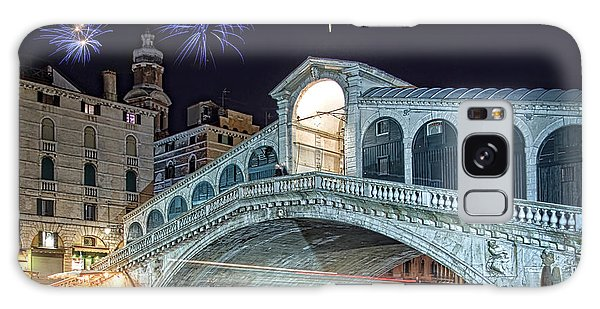 Fireworks Galaxy Case - Rialto Bridge Fireworks by Delphimages Photo Creations