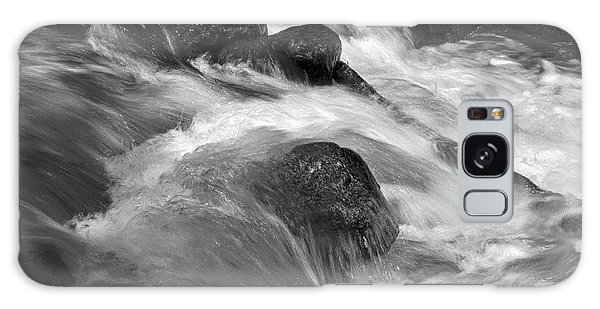 Ribbon Fall Creek Black And White Galaxy Case
