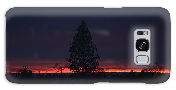 Ribbon Of Sunset Galaxy Case