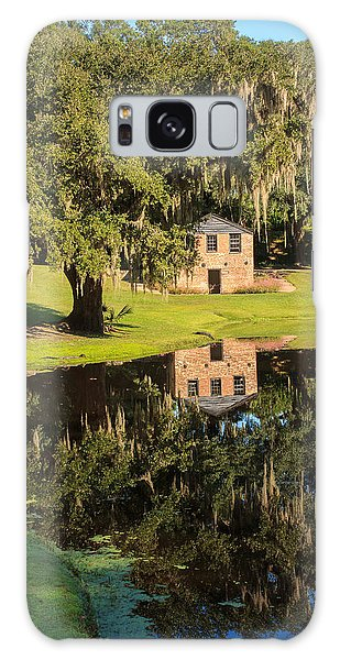 Rice Mill  Pond Reflection Galaxy Case