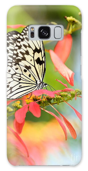 Rice Paper Butterfly In The Garden Galaxy Case