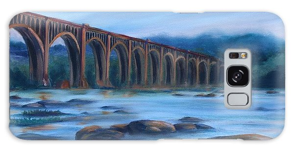 Richmond Train Trestle Galaxy Case by Donna Tuten