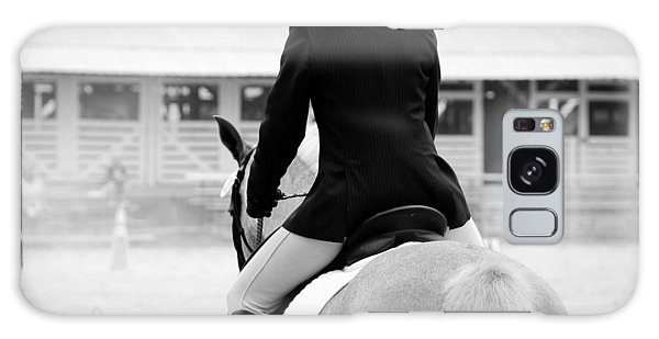 Rider In Black And White Galaxy Case