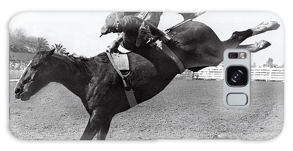 Texas Galaxy Case - Riding A Bucking Bronco by Underwood Archives