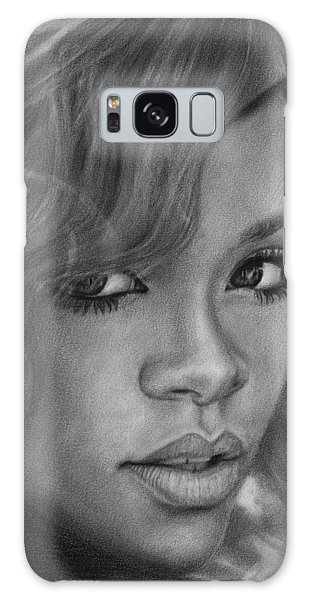 Rihanna Pencil Drawing Galaxy Case