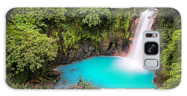 Rio Celeste Waterfall Galaxy Case by Andres Leon