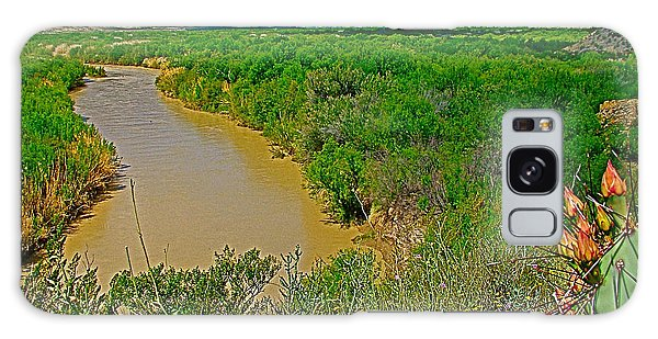 Rio Grande East Of Santa Elena Canyon In  Big Bend National Park-texas Galaxy Case