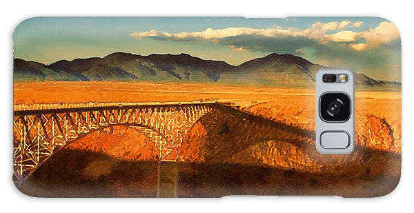 Rio Grande Gorge Bridge Heading To Taos Galaxy Case