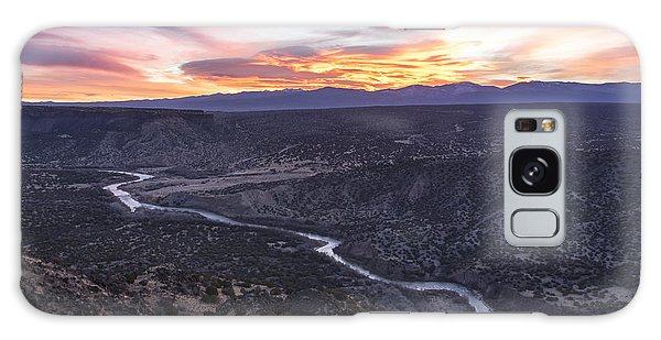 Rio Grande River Sunrise - White Rock New Mexico Galaxy Case