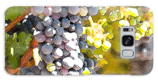 Ripe Grapes Galaxy Case by Artist and Photographer Laura Wrede