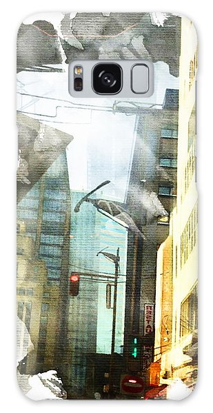 Ripped Cityscape Galaxy Case by Andrea Barbieri