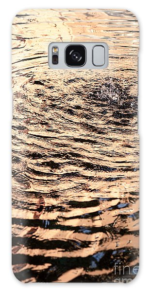 Ripple Reflection In Fountain Water Galaxy Case