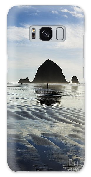Rippled Sand At Cannon Beach Galaxy Case