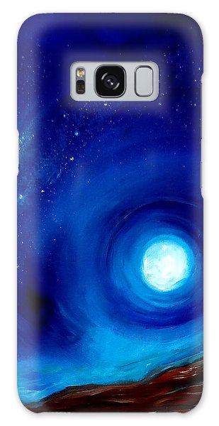 Rising Desert Moon Galaxy Case