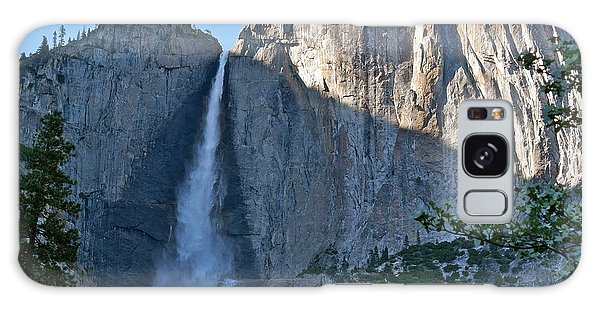 Rising Sun At Upper Yosemite Falls Galaxy Case