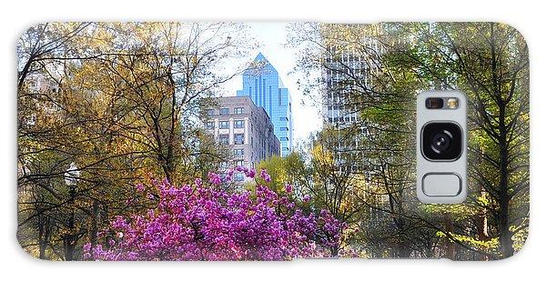 Rittenhouse Square In Springtime Galaxy Case by Bill Cannon