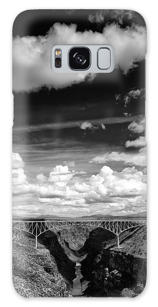 River And Clouds Rio Grande Gorge - Taos New Mexico Galaxy Case