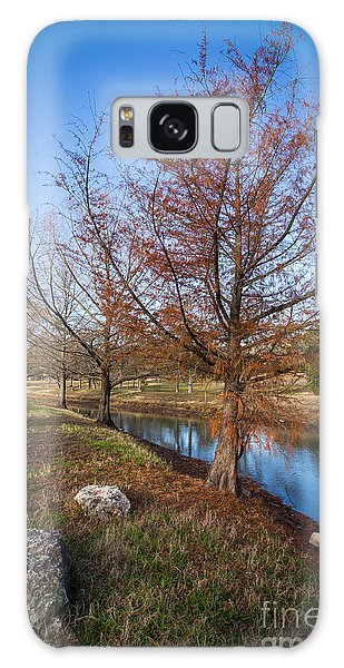 River And Winter Trees Galaxy Case