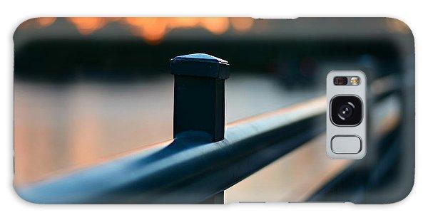 Fence Post Galaxy Case - River Bridge by Laura Fasulo