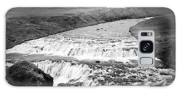 Landscapes Galaxy Case - River In Iceland Black And White by Matthias Hauser