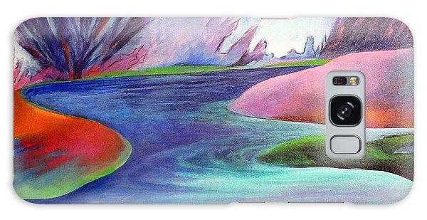 Blue Bayou Galaxy Case by Elizabeth Fontaine-Barr