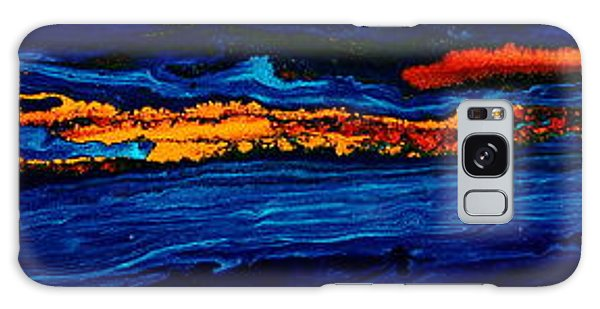 River Path Abstract Art Horizontal Fluid Painting By Kredart Galaxy Case
