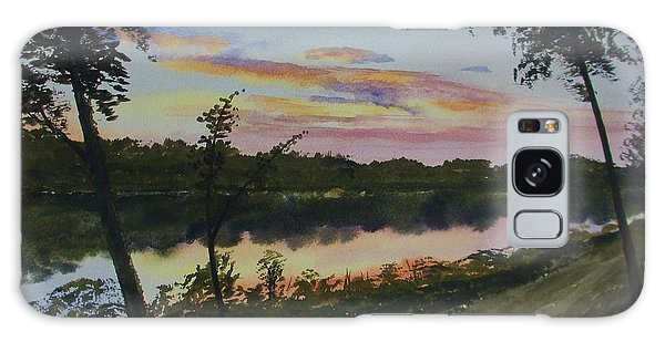 River Sunset Galaxy Case by Martin Howard