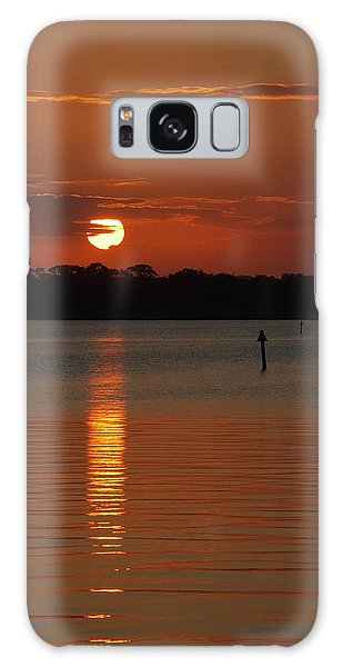 River Sunset Galaxy Case