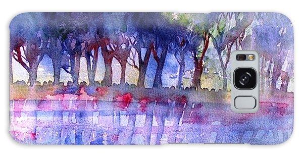 River Trees  Galaxy Case by Trudi Doyle