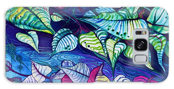 Riverbank Foliage Galaxy Case