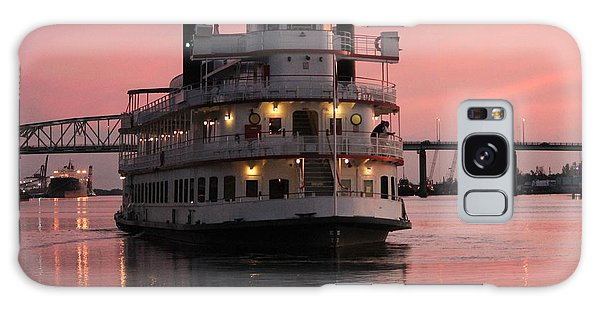 Riverboat At Sunset Galaxy Case