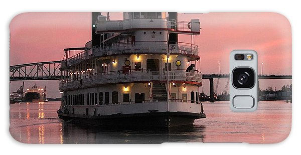 Riverboat At Sunset Galaxy Case by Cynthia Guinn