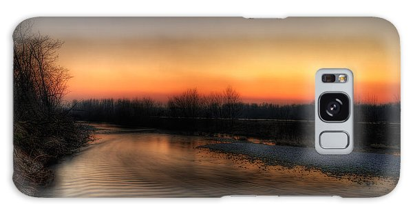 Riverscape At Sunset Galaxy Case
