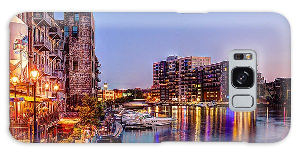 Riverwalk At Dusk Galaxy Case