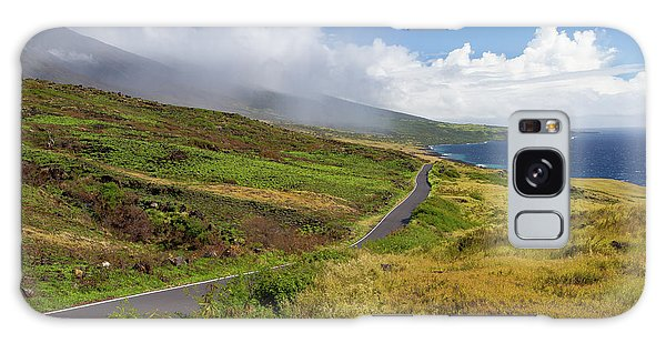 Islands In The Sky Galaxy Case - Road Leading Towards Pacific Ocean by Panoramic Images