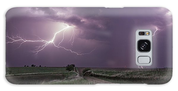 Road To Nowhere - Lightning Galaxy Case by Aaron J Groen