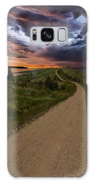 Road To Nowhere - Stormy Little Bend Galaxy Case by Aaron J Groen