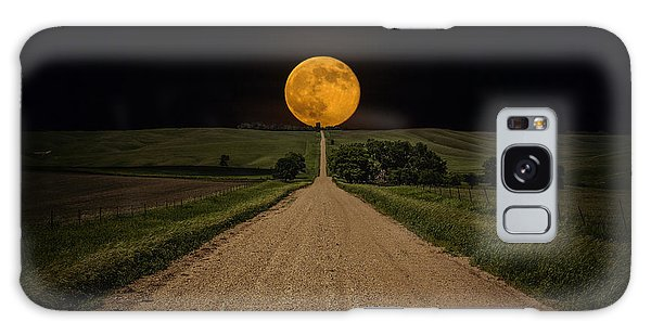 Road To Nowhere - Supermoon Galaxy Case by Aaron J Groen