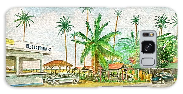 Roadside Food Stands Puerto Rico Galaxy Case by Frank Hunter