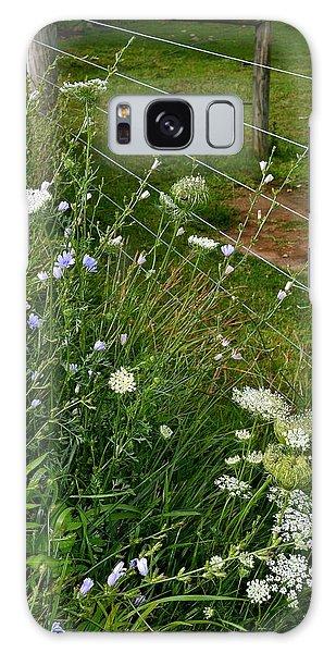 Roadside Wildflowers Galaxy Case