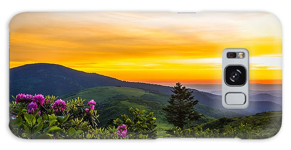 Roan Mountain Sunset Galaxy Case