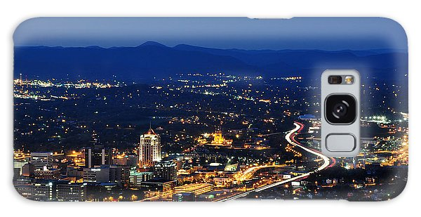Roanoke City As Seen From Mill Mountain Star At Dusk In Virginia Galaxy Case by Paul Fearn
