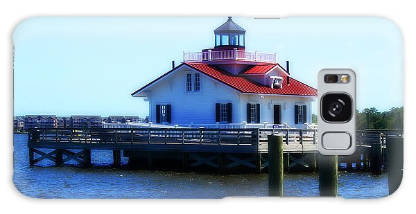 Roanoke Marshes Light 4 Galaxy Case by Cathy Lindsey