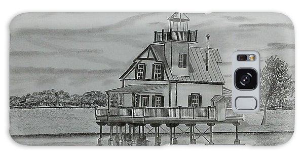 Roanoke River Lighthouse Galaxy Case