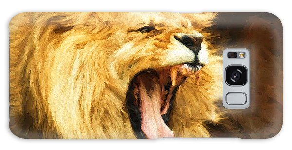 Roaring Lion Galaxy Case by Kaylee Mason